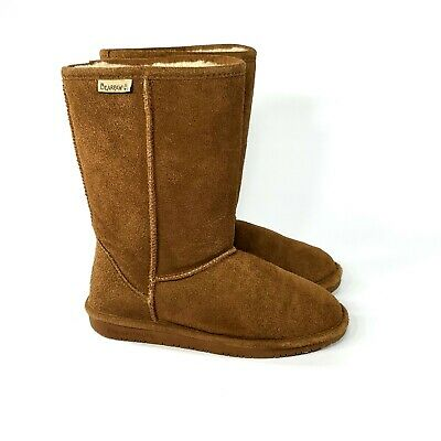 NEW KIDS YOUTH 2019 BEARPAW EMMA TALL BOOTS HICKORY II WOOL SUEDE ORIG 618Y