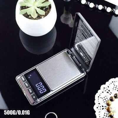 LCD Pocket Digital Jewelry Weighing Scale 500g/0.01g Gold Silver Coin Grain Herb