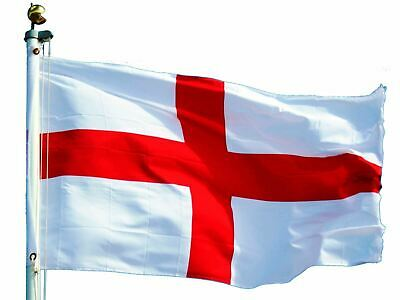England Flag St George Cross Flags English Eyelets Football Rugby Day 5FT X 3FT