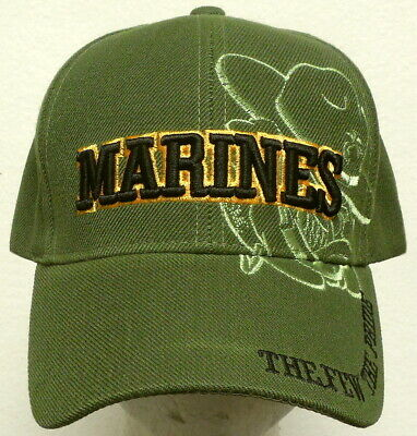 U.s. Marine Corps Usmc The Few Proud Bulldog Devil Dog Mascot Commander Cap Hat