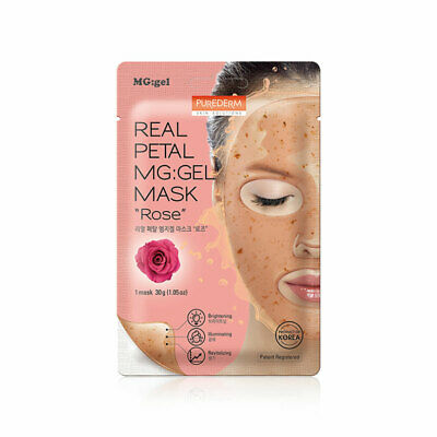 [PUREDERM] Real Petal MG:gel Mask #Rose 1pcs * 30g - BEST Korea Cosmetic