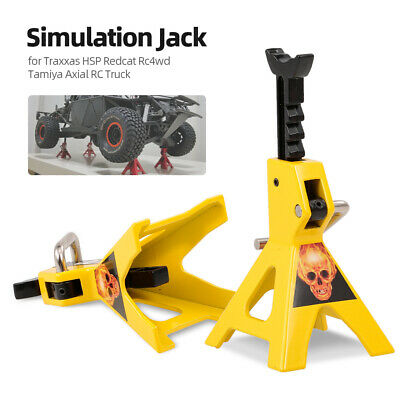 2pcs Simulation Metal 6 Ton Jack Stand Adjustable Height Decorate for C3J2