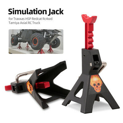2pcs Simulation Metal 6 Ton Jack Stand Adjustable Height Decorate for S7Q6