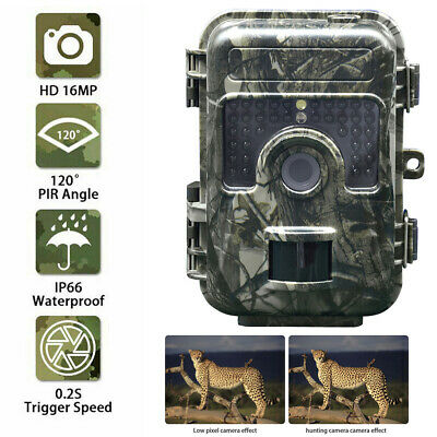 """2.3"""" 16MP Hunting Trail Camera HD 1080P Wildlife Scouting Cam Night Vision IP65"""