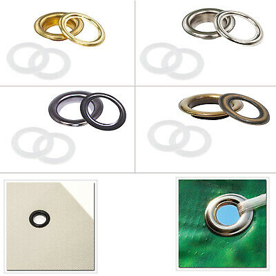 40mm Brass Eyelets Grommets Plastic Washers For Leather Craft PVC Banners Poster