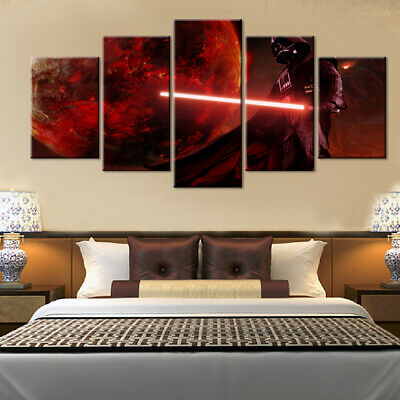 5 Pieces Canvas Painting Wall Art Star Wars Movie For Living Room Decoration