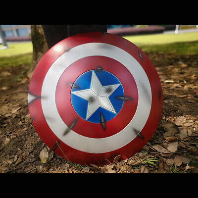 Captain America Vibranium Shield Metal 1:1 Scale Replica Wall Decor Cosplay Prop