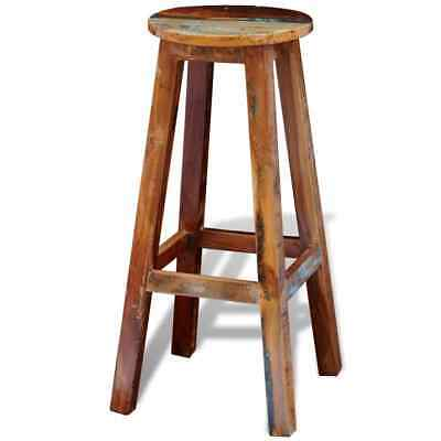 Industrial Wood Bar Stool Bar Stool Breakfast Kitchen Cafe Dining Chair Vintage
