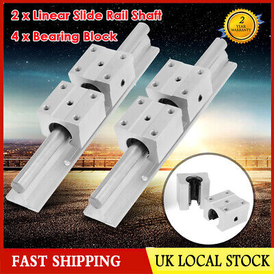 12mm Linear Slide Guide Shaft SBR12 200mm 2 Rail+4 SBR12UU Bearing Block CNC set