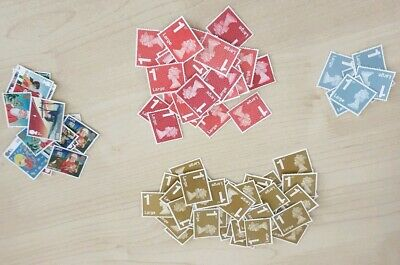 1st class large unfranked stamps off paper no gum x 115 (£0.53 each)