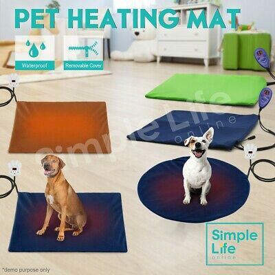 Electric Pet Dog Heat Heating Heated Pad Mat Thermal Protection Bed Waterproof