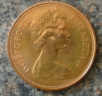 1973 Elizabeth II Royal Mint proof 2p  (two) coin. (new pence)