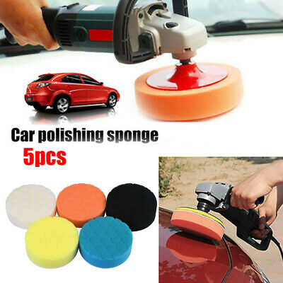 5PCS Car Polishing Sponge Bonnets Waxing Buffing Pads Compound Auto Polisher Kit