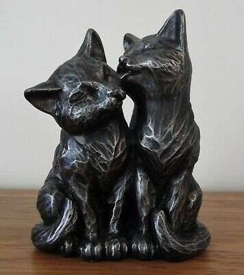 Pair of Bronze Effect Cats Grey/Black Ornament by Next  Great Birthday Gift Idea