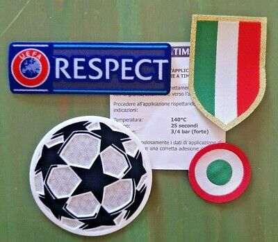 patch toppa scudetto + coppa italia + respect + champions juve 2018 2017 2019