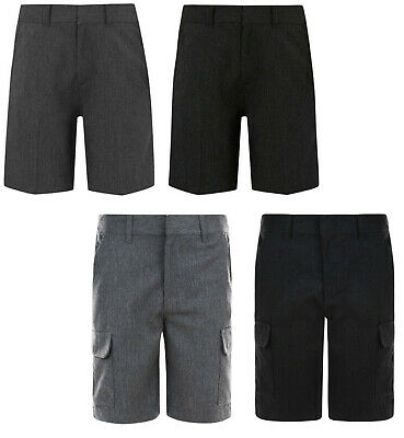 Boys School Shorts Ex Uk Store Grey Charcoal 3 4 5 6 7 8 9 10 11 12 13 14 15 Yrs