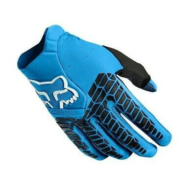 Fox Pawtector Motocross MX Enduro OffRoad Race Gloves Blue Adults Small (8)