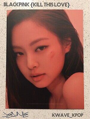 ✨Blackpink 블랙핑크 Kill This Love✨ Official (1) Piece Photo Card Only - Jennie