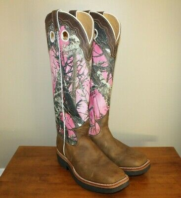 1e54276737c54 Justin L2116 Womens Brown Pink Camo Snakeproof True Timber Cowgirl Boots Sz  10 B