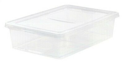 Iris Usa Inc 200420 7 Gallon Small Clear Under Bed Storage