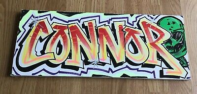 Connor Graffiti Name Canvas Wall Art / Door Sign 50cm X 20cm