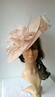 Champagne Hatinator ...Large saucer disc Wedding.races..custom made