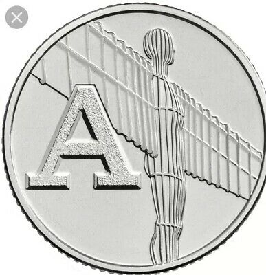 2018 10p Coin A - Angel Of The North British Coin Hunt Letter A.... Free Postage