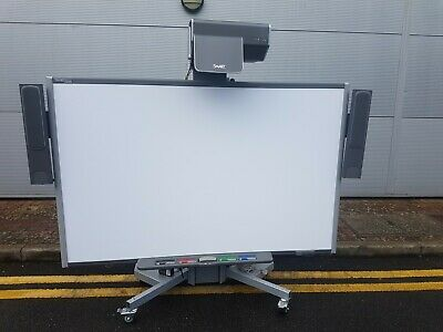 """SMART SB685 87"""" Interactive WhiteBoard + UX60 Projector & Motorised Mobile Stand"""