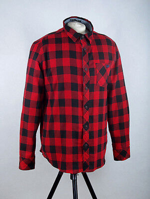 L268/53 Tokyo Laundry Thick Cotton Flannel Red Checkred Tartan Casual Shirt, L