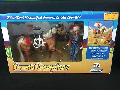 Grand Champions Marchon Beautiful Palamino Horse Open Box but Sealed Vintage Toy