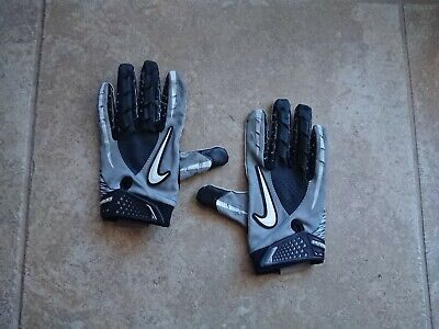 bb19d6b8a Youth Nike Vapor Jet 1.0 Football Receiver Gloves Size L Gray Black White  USED