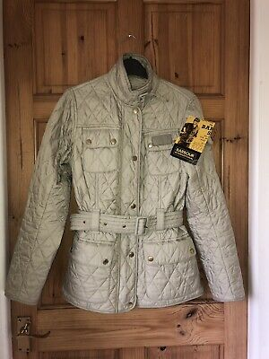 065e790056bb4 Bnwt Womens Barbour Quilted Cream Belted Lightweight Jacket / Coat Size 10