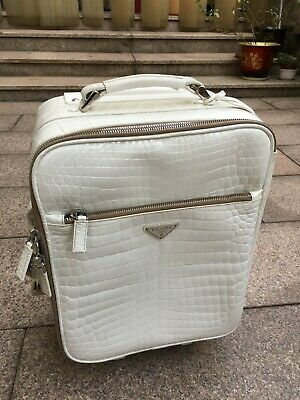 Prada Crocodile Alligator Skin Cabin Luggage Suitcase Trolley Bag Briefcase