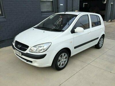 2009 Hyundai Getz TB MY09 S White Automatic 4sp A Hatchback