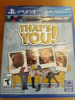 That's You (Sony PlayStation 4, 2017) Video Game play link ps4 Sealed 2-6 player