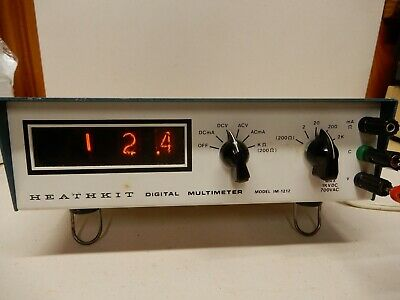 Heathkit Model IM-1212 VOM Working but Not Fully Tested Needs Calibration Nixies
