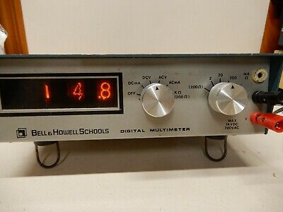 Bell Howell/Heathkit Model VOM Working - Needs Calibration Nixies