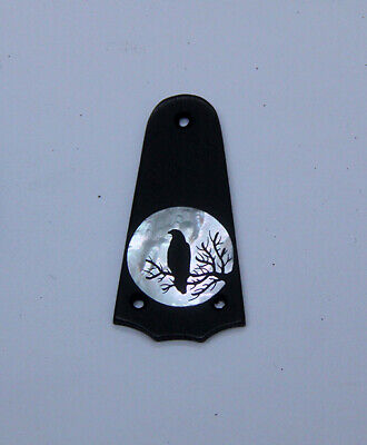 Truss Rod Cover with Raven Silhouette Inlay will fit Taylor 3 Hole