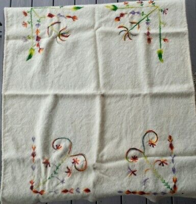 Antique 19th-Century Embroidered Wool Blanket