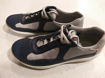 308bcb2ad9f3 Authentic Prada Mens Nevada Bike PS 0906 Blue Casual Sneakers Shoes Size 9  Cup