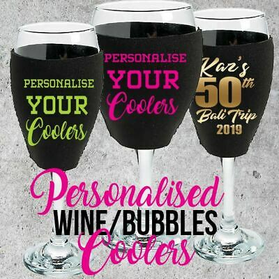 Personalised Event Coolers for Champagne/Bubble or Wine Neoprene Cooler