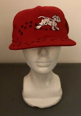 Vintage 90s 101 Dalmations Annco Adjustable Red Baseball Hat Cap Snapback Youth