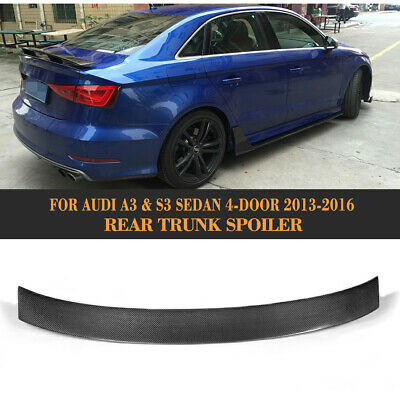 Carbon Fiber M4 Rear Trunk Spoiler Duck Tail Boot Wing For Audi 13
