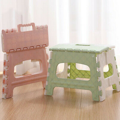 Plastic Multi Purpose Folding Step Stool Home Train Outdoor Storage Foldable CC