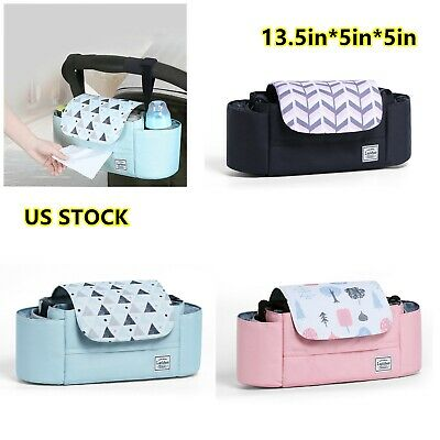 LAND Waterproof Baby Stroller Storage Bag Pram Bottle Organizer Holder Bag