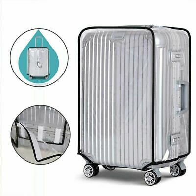 """AU Transparent Waterproof PVC Travel Luggage Protector Suitcase Cover 18""""-30"""""""