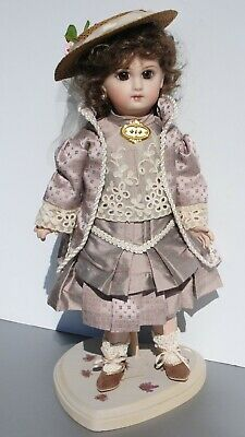 """Antique French Jumeau Doll 14.5"""" Reproduction Artist Made Beautiful"""