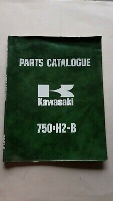 KAWASAKI 750 H2-B 1974 catalogo ricambi originale spare parts catalogue