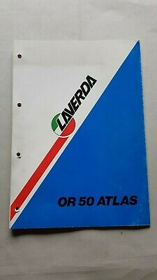Laverda OR 50 Atlas catalogo ricambi originale anni '80 spare parts catalogue