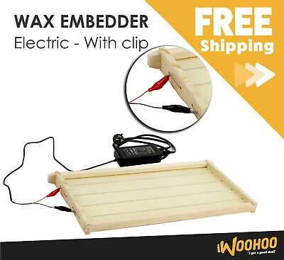 Electric Wax Embedder with clips - attach wax foundation to the frame
